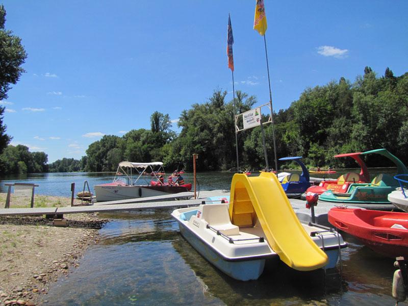 Base de location de canoë et bateaux sur le Lot